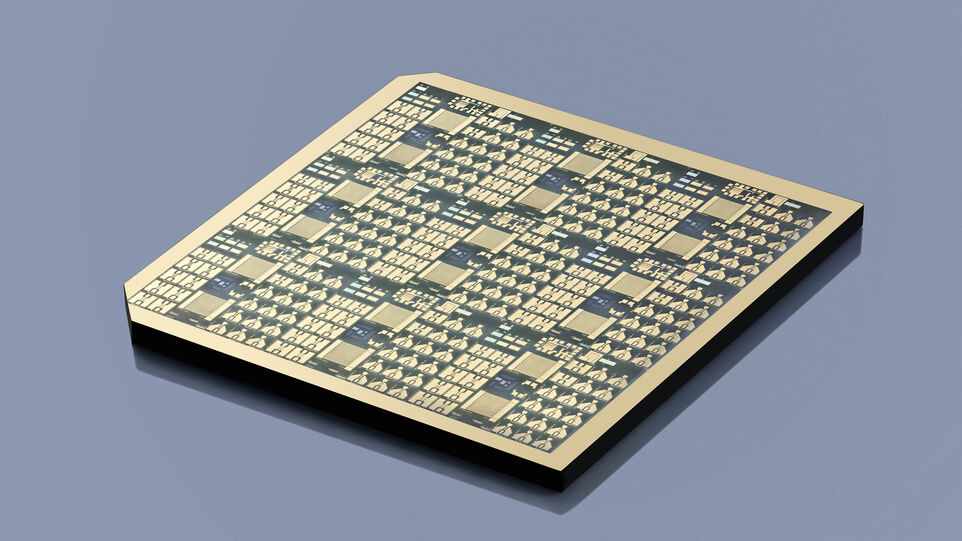 The picture shows a gallium oxide chip.